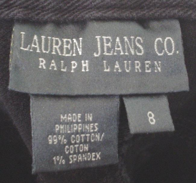 Lauren Jeans Company Co Denim Casual Work Style Size 8 M Ralph Boot Cut Jeans-Coated Image 6