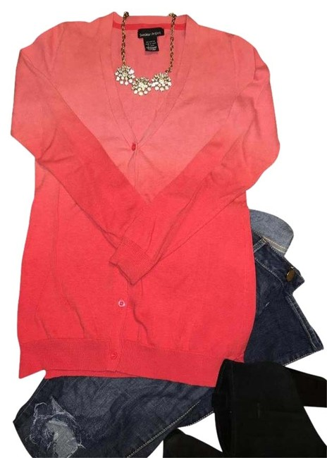 Preload https://img-static.tradesy.com/item/22381024/sweater-project-coral-ombre-cardigan-size-8-m-0-10-650-650.jpg