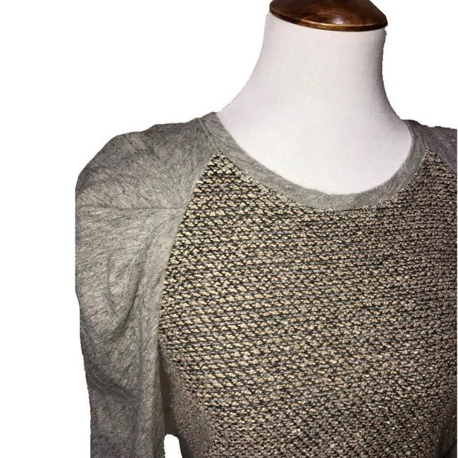 Anthropologie Top gray taupe cream brown Image 1
