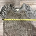 Anthropologie Top gray taupe cream brown Image 3