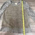 Anthropologie Top gray taupe cream brown Image 4