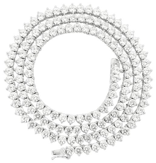 Preload https://img-static.tradesy.com/item/22381294/master-of-bling-silver-3mm-18-solitaire-3-prong-14k-white-gold-finish-tennis-necklace-0-2-540-540.jpg