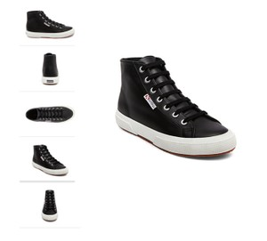 Superga Sneakers Hightops Tennis Leather black Athletic