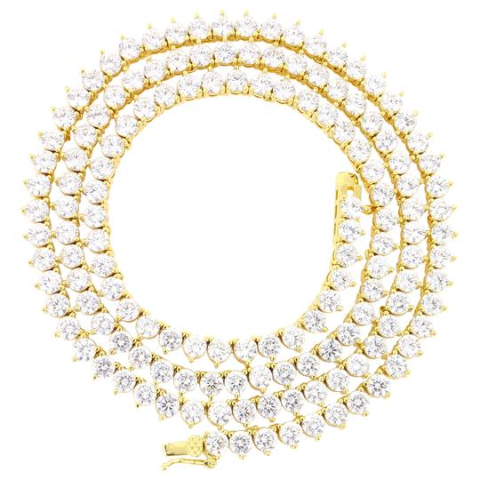 Preload https://img-static.tradesy.com/item/22381365/master-of-bling-gold-3mm-20-solitaire-3-prong-14k-yellow-finish-tennis-necklace-0-0-540-540.jpg