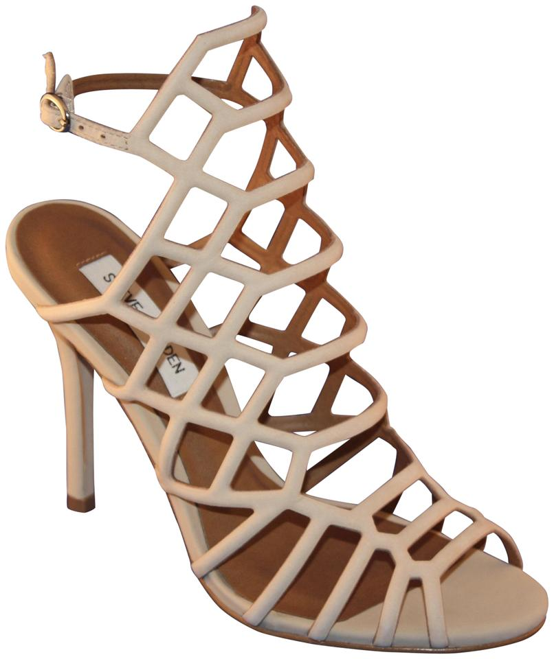 fa03624b5a2 Steve Madden Nubuck Sexy Cage Web Slithur Blush Sandals Image 0 ...