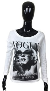 Other Sweater White Black Marilyn Monroe Vogue Magazine Cover Longsleeve Sweatshirt