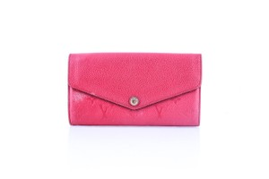 Louis Vuitton * Louis Vuitton Sarah Wallet Monogram Empreinte Leather Cherry