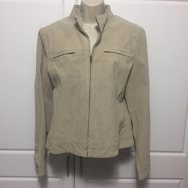 Uniform John Paul Richard Beige Leather Jacket Image 1