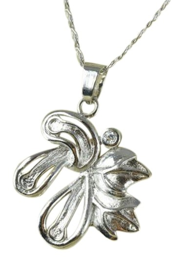 Preload https://img-static.tradesy.com/item/22381499/silver-white-gold-rhodium-floral-leaf-pendant-charm-0-1-540-540.jpg