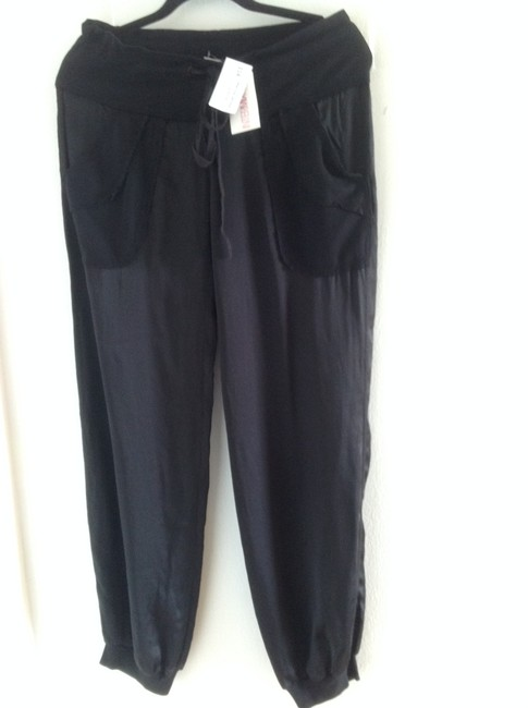 Preload https://img-static.tradesy.com/item/22381590/young-fabulous-and-broke-black-and-silk-relaxed-fit-pants-size-6-s-28-0-0-650-650.jpg