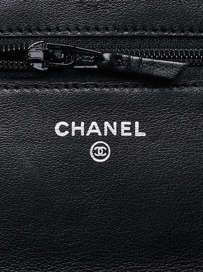Chanel Cc Patent Woc Striated Cross Body Bag