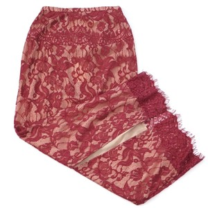 The Jetset Diaries Lace Long Maxi Skirt Red