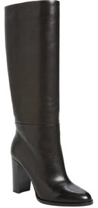 Pour La Victoire Leather Mid Calf Tall Black Boots