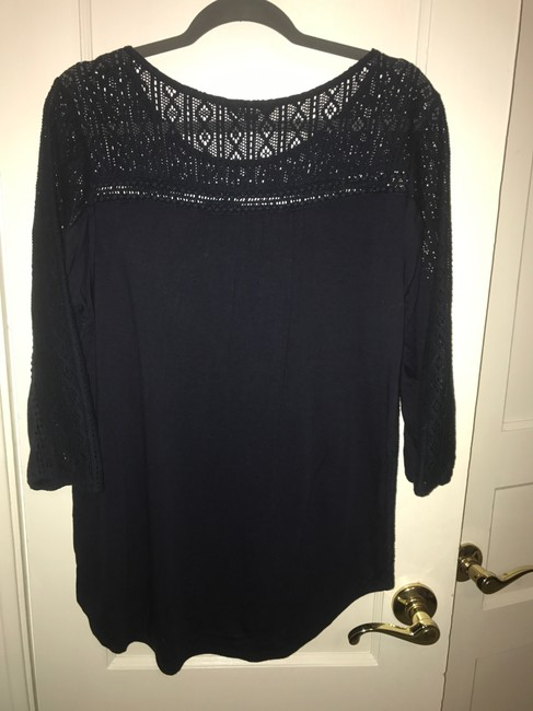 Preload https://img-static.tradesy.com/item/22382162/lucky-brand-navy-crocheted-front-blouse-size-12-l-0-0-650-650.jpg
