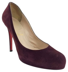 Christian Louboutin Stiletto Leather Burgundy Pumps