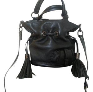Lancel Leather Bucket Hand Carry Chic Shoulder Bag