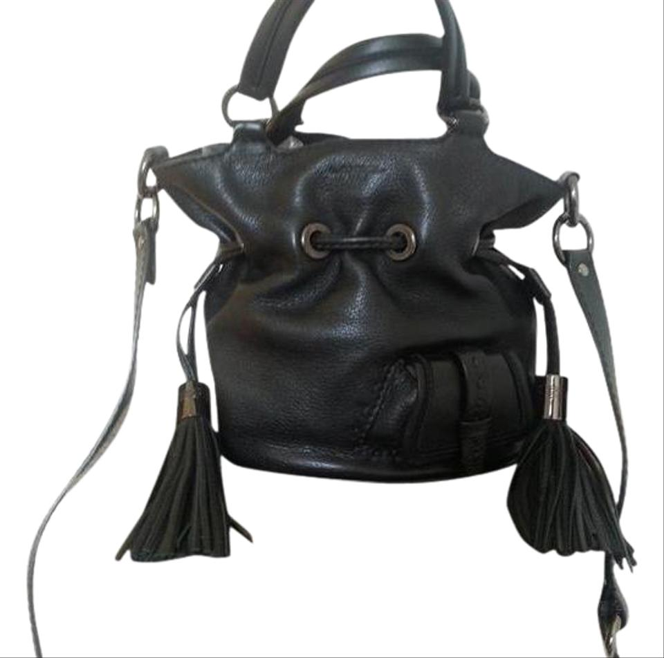 126163af78bb Lancel Flirt Mini Bucket Black Leather Shoulder Bag - Tradesy