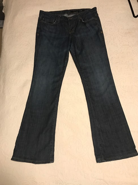 People's Liberation Boot Cut Jeans-Dark Rinse Image 2