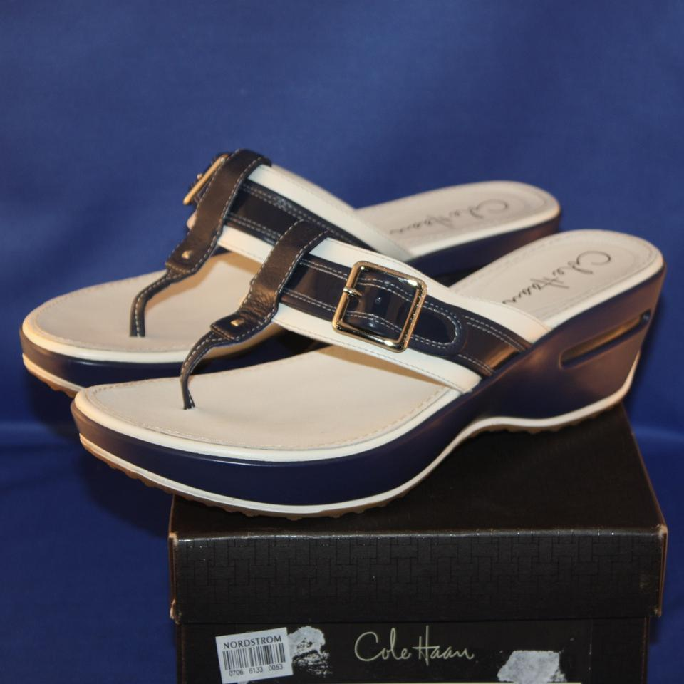 9193c0336a3 Cole Haan Patent Leather Buckle Leather Nike ivory and pacific Sandals  Image 4. 12345