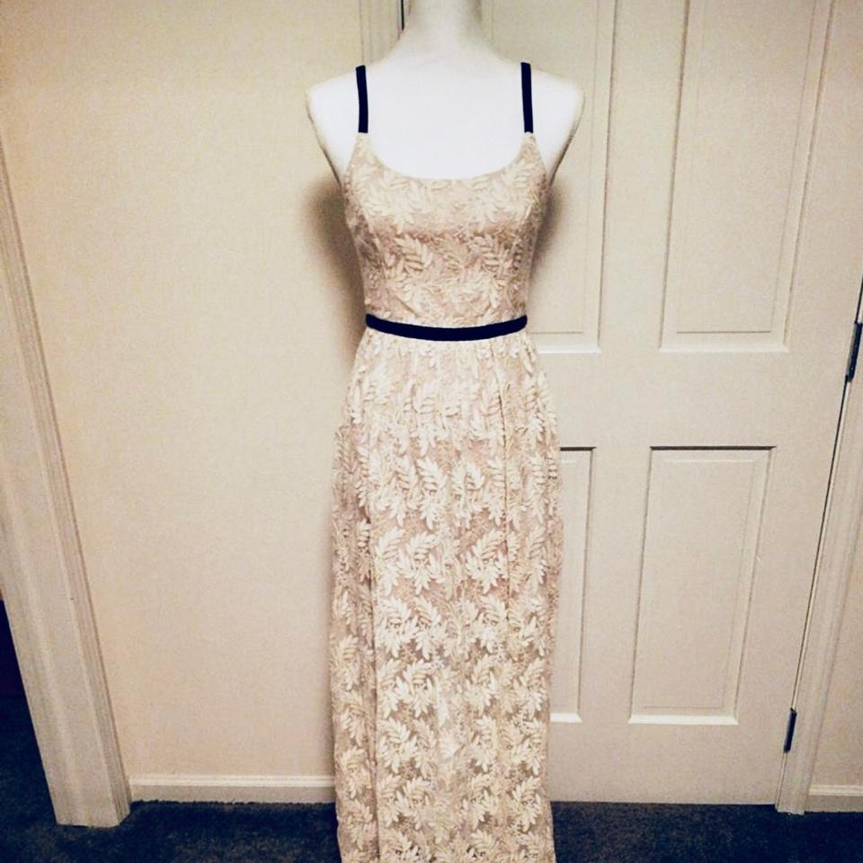 A.B.S. by Allen Schwartz Ivory Lace Evening Gown Long Night Out ...