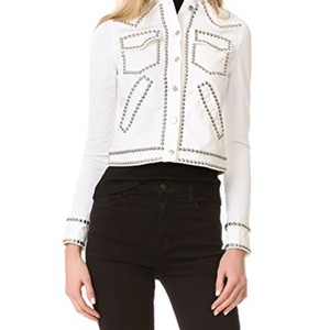A.L.C. White Womens Jean Jacket