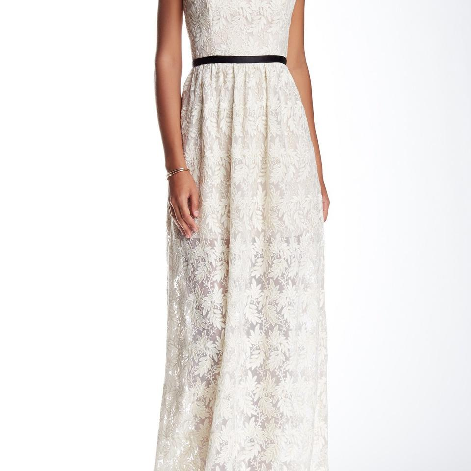 A.B.S. by Allen Schwartz White Lace Evening Gown Long Night Out ...