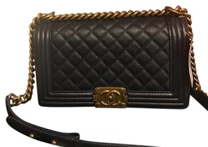 Chanel Caviar Ghw Boy Le Boy Cross Body Bag