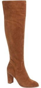 Arturo Chiang Suede Leather Over The Knee Tall Brown Boots