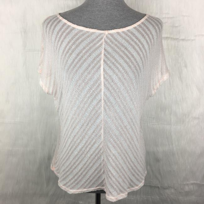 Preload https://img-static.tradesy.com/item/22383162/michael-stars-pink-white-striped-sheer-blouse-size-os-one-size-0-0-650-650.jpg