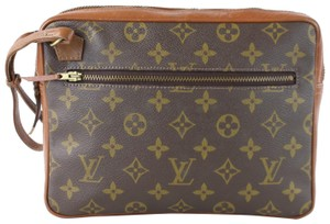 Louis Vuitton Poche Trouse Pochette Pouch Brown Clutch