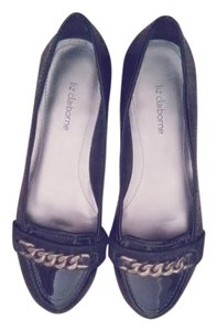 Liz Claiborne Loafer Patent Leather Black Flats