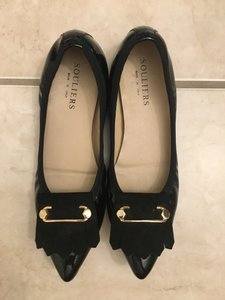 Malone Souliers Patent Leather Marked Down Close Out Black Flats