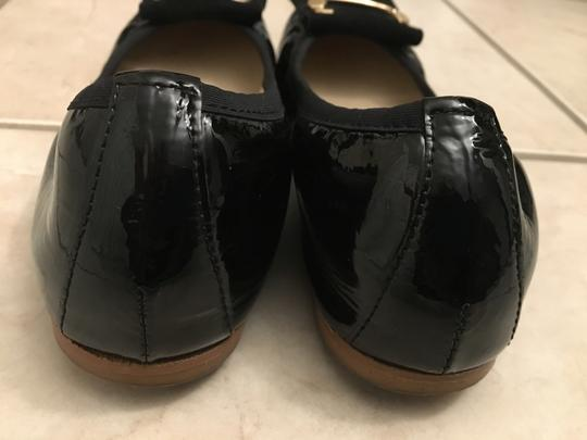 Malone Souliers Patent Leather Marked Down Close Out Black Flats Image 3