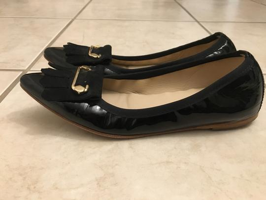 Malone Souliers Patent Leather Marked Down Close Out Black Flats Image 5