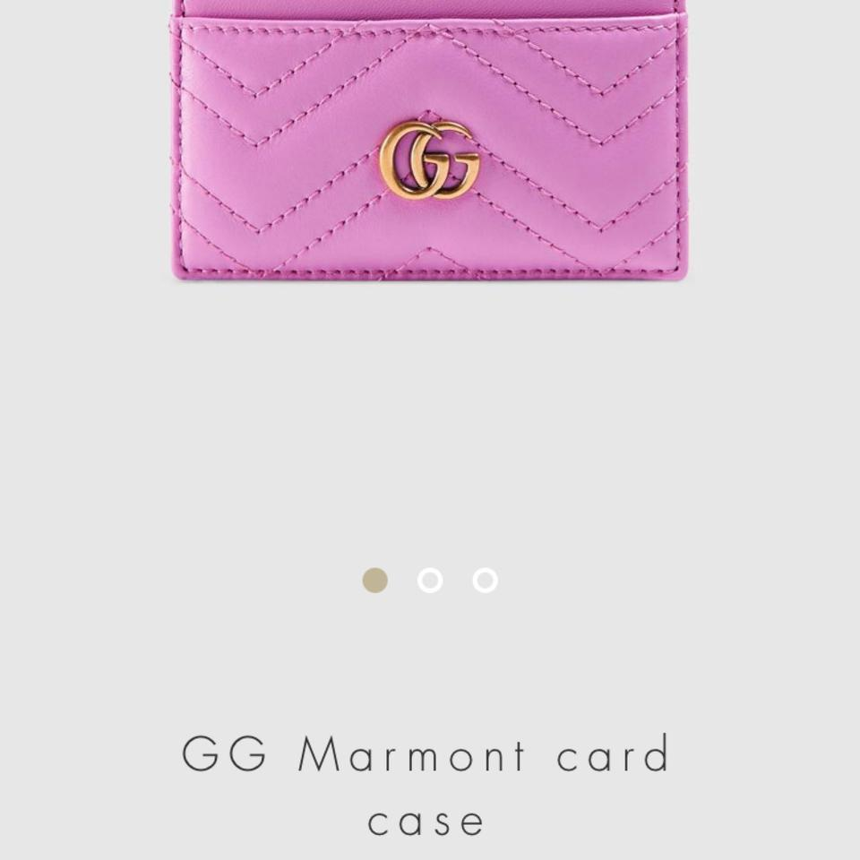 purchase cheap c3637 42ad1 Gucci Pink Marmont Card Holder Wallet