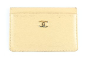 CHANLE Card Case Card Wallet Card Holder Organizer Wallet Wristlet in Beige