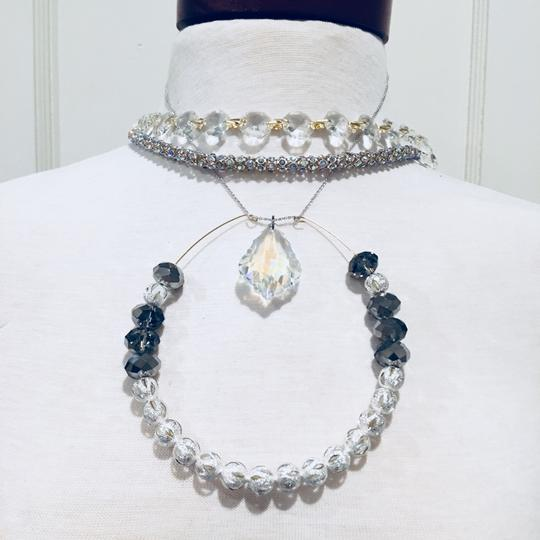 Preload https://img-static.tradesy.com/item/22383489/silver-crystal-clear-fem-layered-dream-necklace-0-0-540-540.jpg
