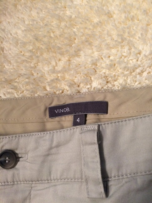 Vince Ankle Straight Trouser Pants Gray