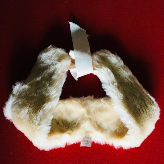 Other New Faux Fur Collar Cream Ivory lace tie Image 4