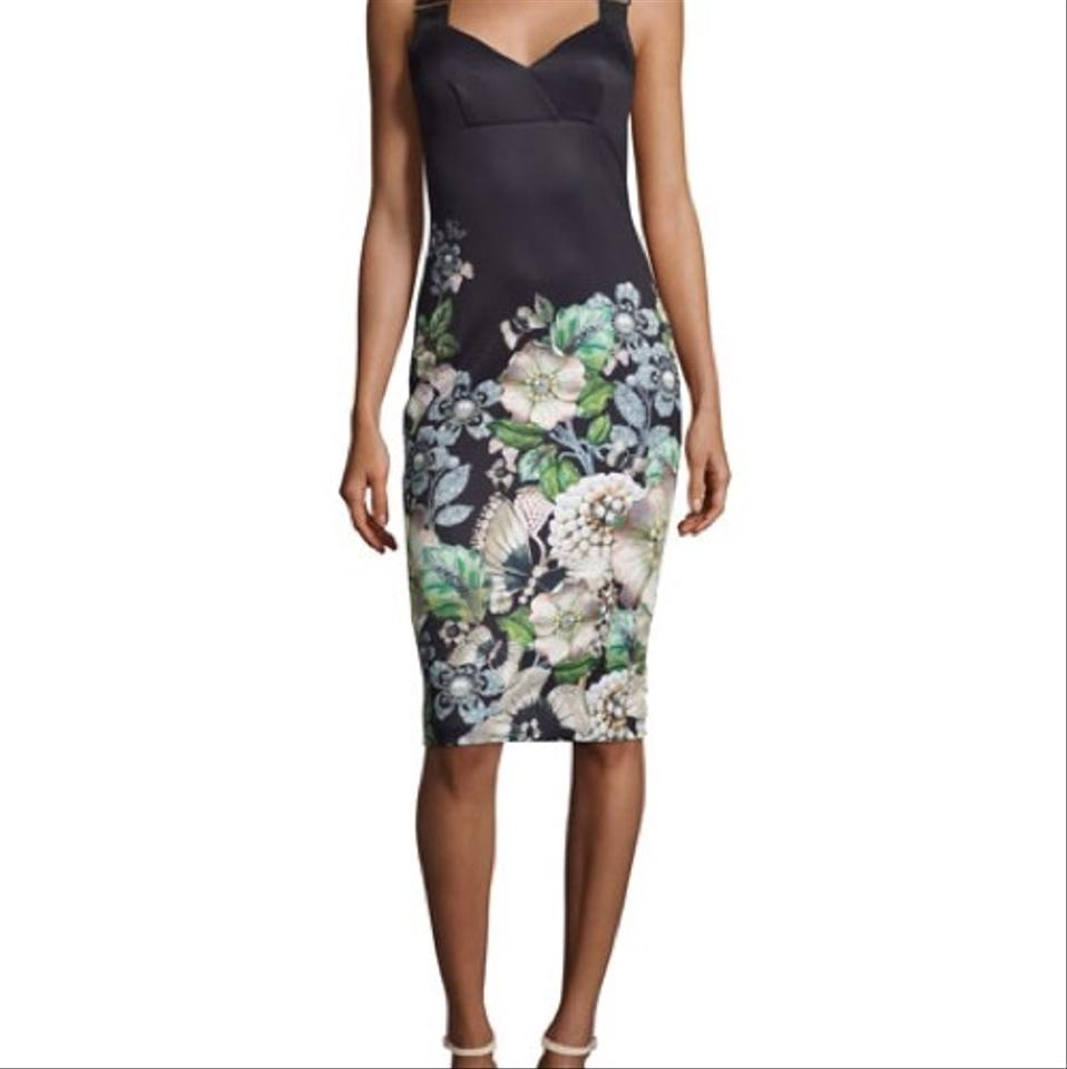 935a23f6b Ted Baker Black Jayer Gem Gardens Bodycon Mid-length Night Out Dress Size 4  (S) - Tradesy