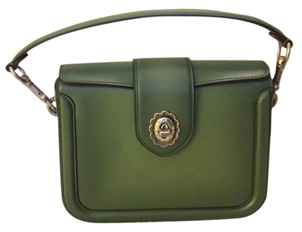 14e31057b07 Coach Page Green Leather Cross Body Bag 57% off retail