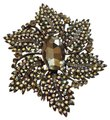 Joan Rivers Joan River Black Crystal Brooch Iridescent Rhinestones Image 0