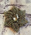 Joan Rivers Joan River Black Crystal Brooch Iridescent Rhinestones Image 1