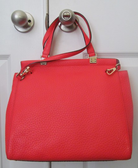 Kate Spade New With Tag Satchel in reddish/ crabred/ bright red Image 1
