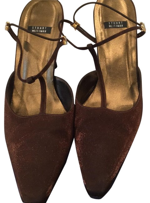 Item - Bronze Sparkle Nicety Lame Formal Shoes Size US 11 Regular (M, B)