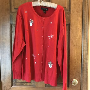 Venezia by Lane Bryant Winter Theme Plus-size Applique Embroidered Banding Cardigan