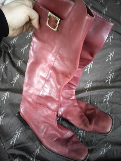 Sergio Rossi Cranberry Boots Image 1