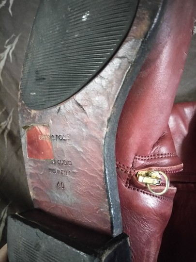 Sergio Rossi Cranberry Boots Image 7