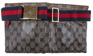 Gucci Heritage Waxed Canvas Waist Baguette