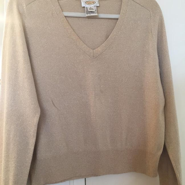 Preload https://img-static.tradesy.com/item/22384361/talbots-light-gold-with-metallic-threading-sweater-0-0-650-650.jpg